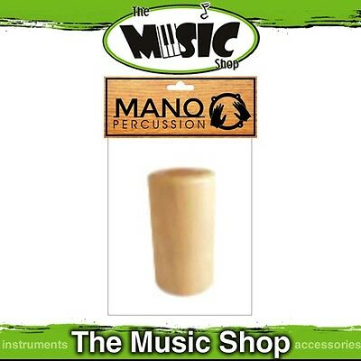 "New Mano Percussion Wooden Cylinder Shaker - Natural Finish, 2 3/4"" Long - UE782"