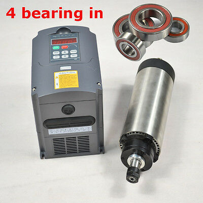 Hot  Er11 800W Air Cooled Spindle Motor Matching 1.5Kw Inverter Drive Vfd A9 Cnc