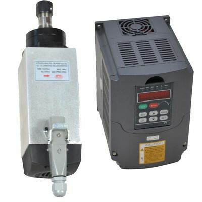 TOP 4KW ER20  AIR COOLED SPINDLE MOTOR and  4KW INVERTER DRIVE VFD FOUR BRARING