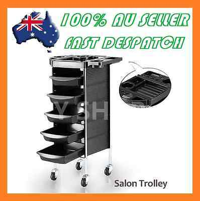 Beauty Spa Hairdresser Coloring Hair Salon Trolley 6 Tier Drawer Rolling Storage