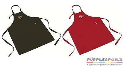 NEW MASTERCHEF COOK'S APRON Master Chef Cook Kitchen Cooking Cotton RED BLACK