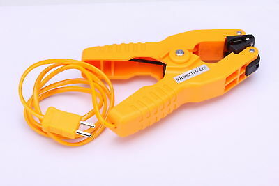 Pipe Clamp Temperature Lead K-Type Probe Thermocouple Sensor -40~200°C/393°F UK