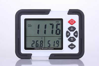 USB CARBON DIOXIDE CO2 Air Temperature Humidity DataLogger Meter Monitor LCD/PC