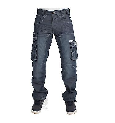 Boys Kids Jeans Ezb295 In Blue Wash Cargo Style Designer Trouser Pants 24 To 29