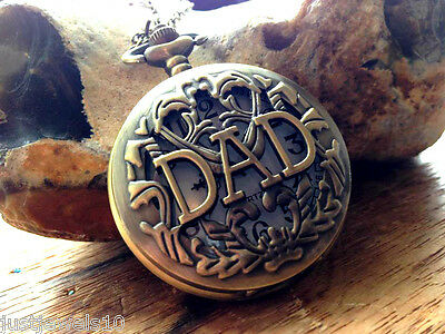 Dad gift Mens Fathers day gifts for him Grandad Pocket Watch Son Baba Papa daddy