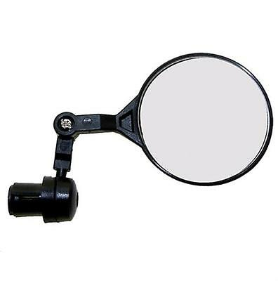 New Bike Cycle Bar End Mounted Rear View 3D Mirror in Black