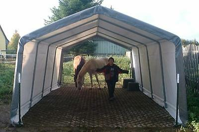 Car Port XL TUNNEL 3,7m x 6,1m x 2,6m Mobilunterstand Holzlager Carport Garage