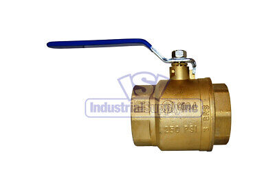 "3"" Full Port Brass Ball Valve NPT Threaded Free Shipping"