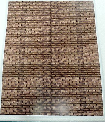 Two Dark Brown Brick Walls Decal 1:18/1:24Scale