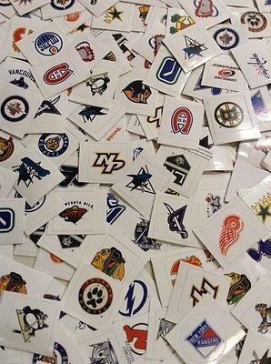 50 NHL Hockey Stickers Lot Team Logos Vintage Retro Current Sticker Decal