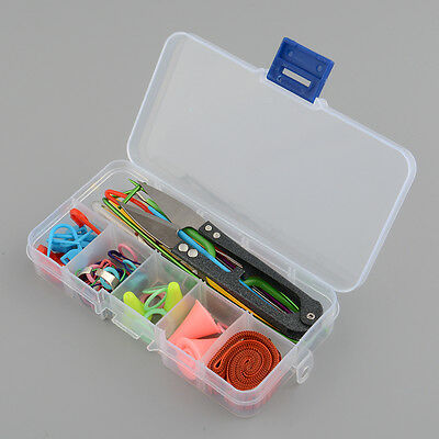Knitting Tools Crochet Hook Accessories Supplies With Case Box Knit Kit New
