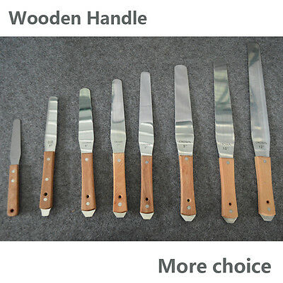 Screen Printing Stainless Steel Spatulas with Wooden Handle cake frosting knife
