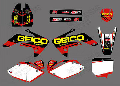 Motorcycle Team Graphics Kit Decals For Honda Crf150R Liquid Cooled 2007-2012
