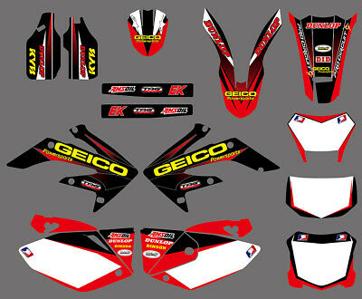 Team Graphics Backgrounds Decals For Honda Crf250X 2004 05 06 07 08 09 10 11 12