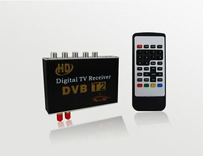 HD High speed mobile digital  Dual antenna car dvb-t2 Tv tuner MPEG-2 MPEG-4