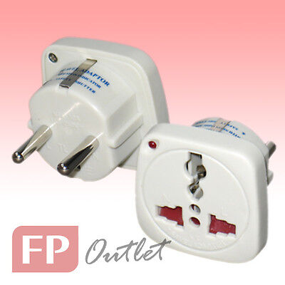 EU 3-Round Pin Type-C/F Universal Multiple AC LED Travel Power Adapter Converter