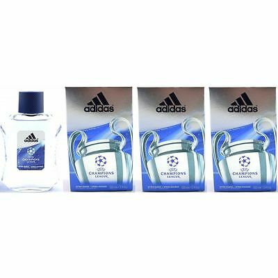 Adidas Champions League 3 x 100 ml Aftershave After Shave Set