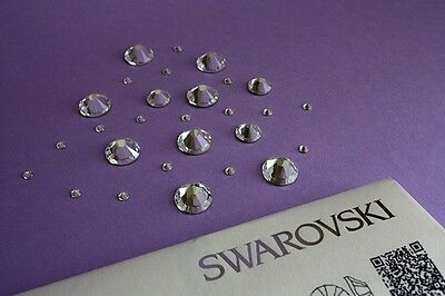 Swarovski Crystals for Nail Art Clear Flat Back NO HOTFIX 100% GENUINE
