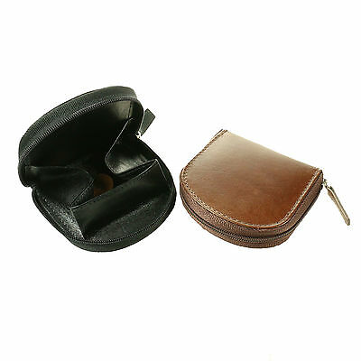 Small Real High Quality Coin Purse With Unique Zip Round Coin Tray  701