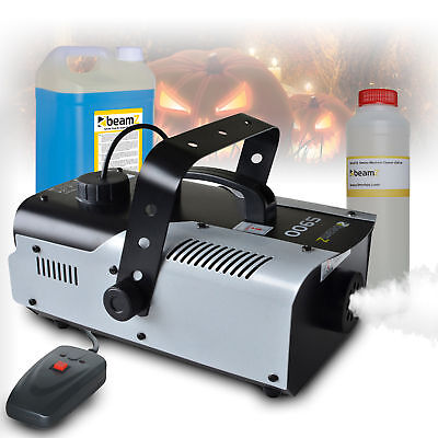 Beamz s900 Remote Control Smoke Machine + 5 Litre Blue Fluid & Cleanser