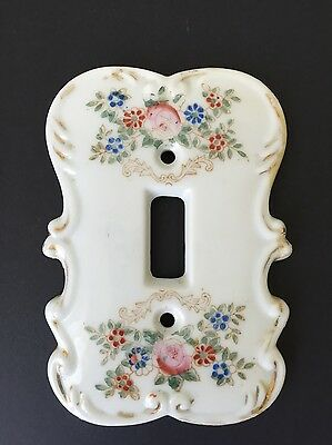 Chic Vintage Shabby Porcelain Painted ANART Floral Switchplate Cover (A4)