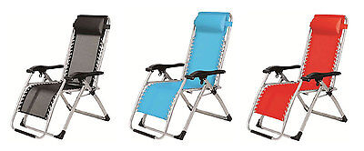 Reclining Textilene lounger Zero Gravity Garden Chair Heavy Duty Camp Fishing