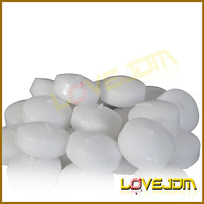 50 PCS Wedding Party Home Decor Round Floating Candles Unscented White
