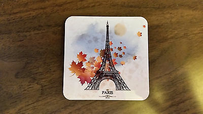 5 New Paris France Beer Coasters with cork backs