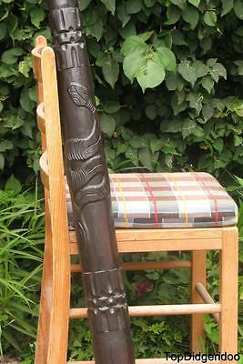 "47""120cm Aboriginal Hand-Carved Snake DIDGERIDOO +BAG+Beeswax Mouth+Free Shipng"