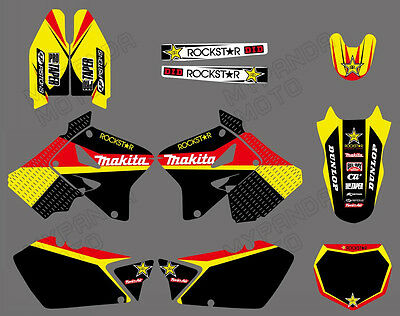 Graphics Backgrounds 4 SUZUKI RM125 RM250 01 02 03 04 05 06 07 08 09 10 11 2012