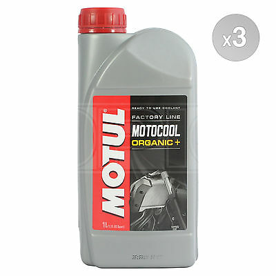 Motul Motocool Factory Line Ready To Use Motorcycle Cooling 3 x 1 Litres 3L