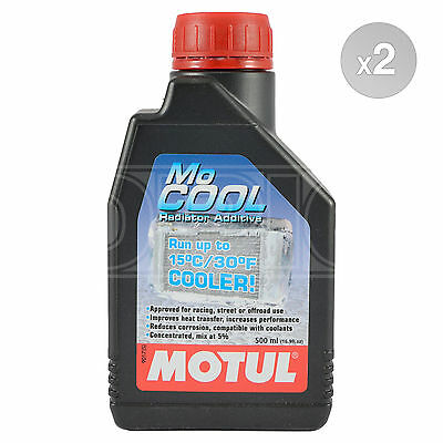 Motul Mo Cool Coolant MoCool Additive for Motorcycles - Road & Track 2 x 500ml