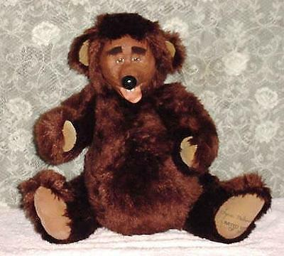 """Porcelain Face Bear Plush Artist Signed LARGE Jointed 22"""" Tongue Out- 230/2000"""