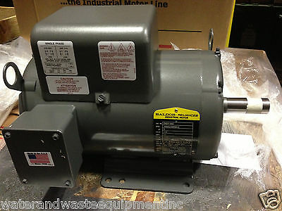 New Baldor 5 Hp 1 Ph Air Compressor Electric Motor 184T Fr 230V Same As L1410T