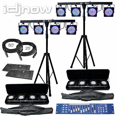 Chauvet 4BAR LED Lighting Tripod/Stand System Combo W/ Cables & Obey 10