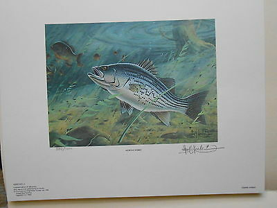 ASB2 - American Striped Bass Society.Artist Signed Print.   #02 ASB2