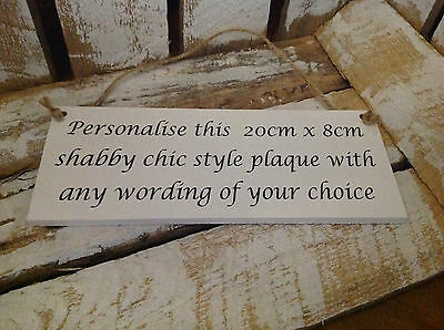 032 Personalised Family Wooden Family Plaque Sign - Hand Made Plaque