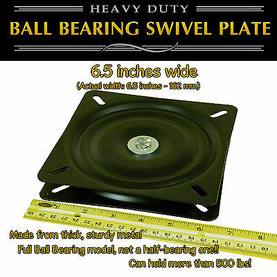 1pc - 6.5 inch (162mm) Full Ball Bearing Flat Swivel Plate Turntable