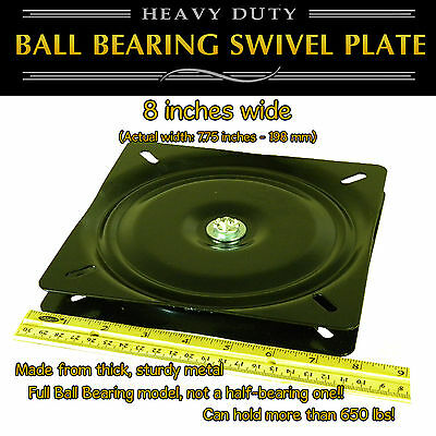 1pc - 8 inch (198mm) - Full Ball Bearing Flat Swivel Plate Turntable