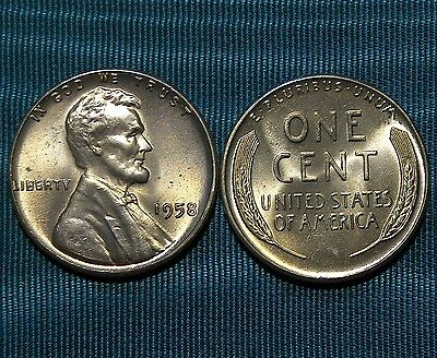 1955-S LINCOLN WHEAT CENT gem BU from old original roll