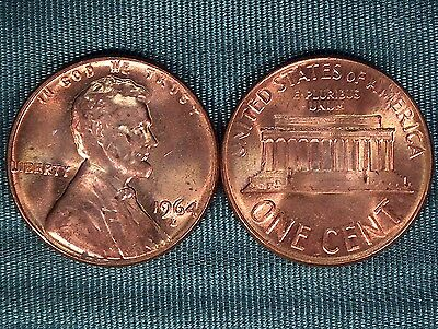 1964-D Lincoln Memorial CENT gem BU from old original roll $2.99 combined S&H