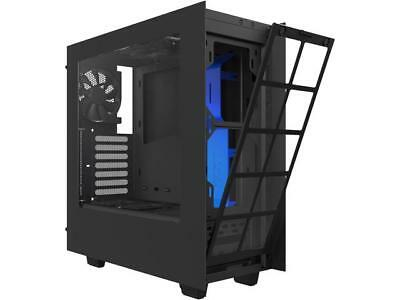 NZXT S340 Matte Black/Blue Steel ATX Mid Tower Case