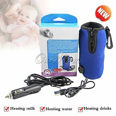 12V Universal Travel Food Milk Bottle Cup Warmer Heater in Car/Home Dual Purpose