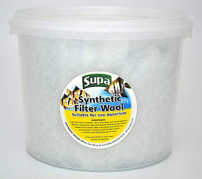 Filter Wool Floss for Internal & External Aquarium & Pond Filters 3 Litre ~150g