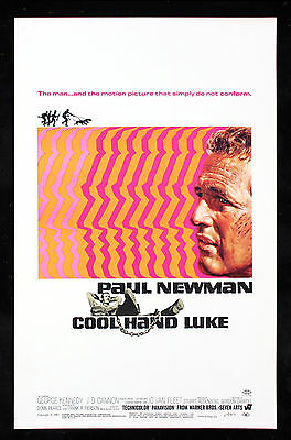 Cool Hand Luke * Window Card Movie Poster Original Paul Newman Nm-M C9-C10 1967