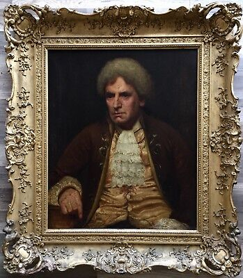 large 19th century english school oil painting on canvas unsigned gilt frame
