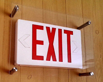 4 PACK - PROTECH SHIELD for EXIT SIGN COVER PROTECT FROM SPORTS AND VANDALISM