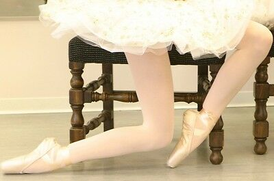 Girls Kids Ballet Dance Opaque Tights Pantyhose Hosiery Stockings - Pale Pink