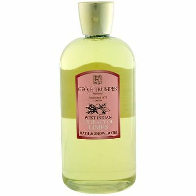 Geo F Trumper Mens 500ml Large Extract of LIMES BATH & SHOWER GEL
