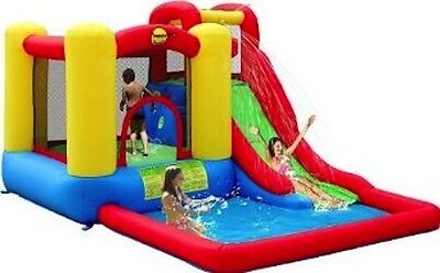 Happy Hop Jump & Splash Adventure Zone Bouncy Castle